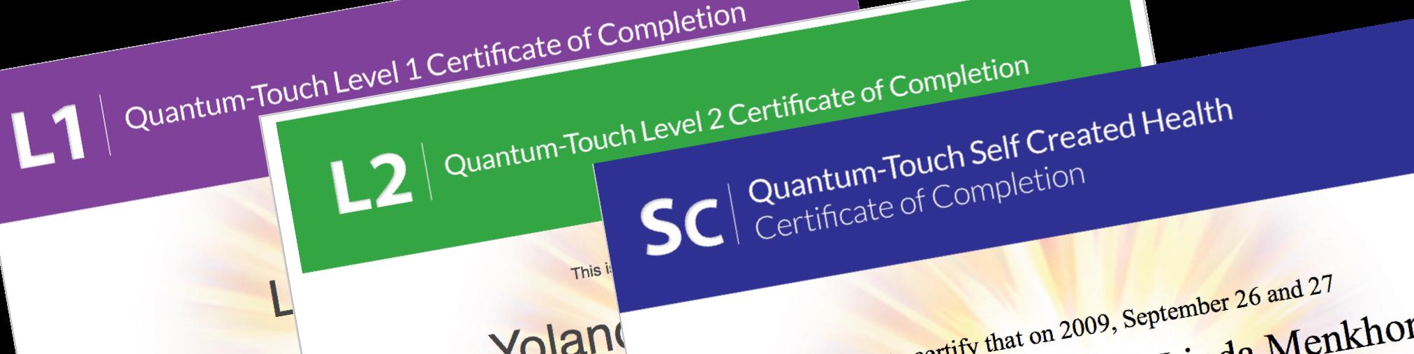 Quantum-Touch Certificaat